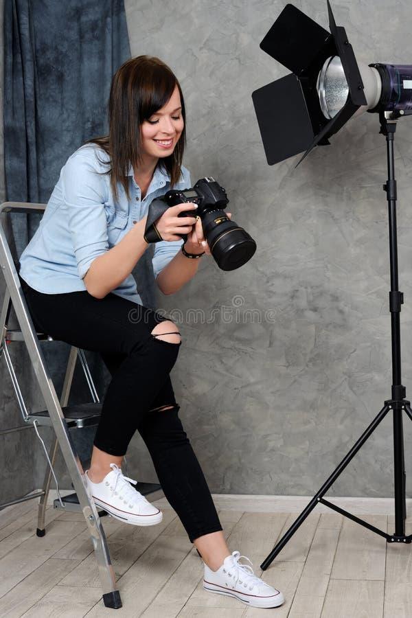rozochocony fotograf fotografia stock