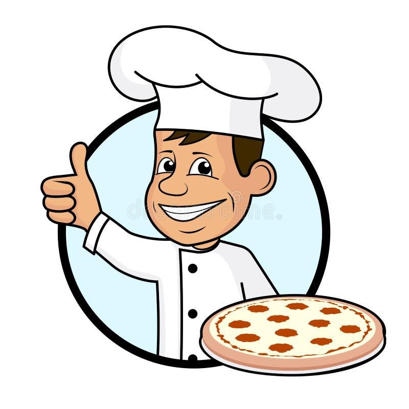 Rozochocony kucharz royalty ilustracja