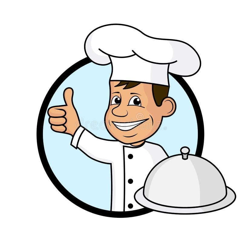 Rozochocony kucharz ilustracja wektor