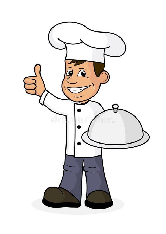 Rozochocony kucharz ilustracji