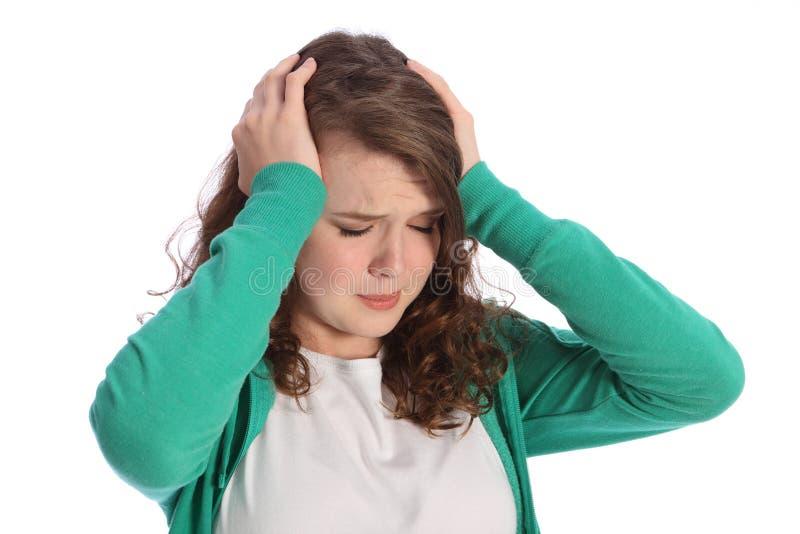 rozpacza dziewczyny bólu zaakcentowany nastolatek zdjęcie stock
