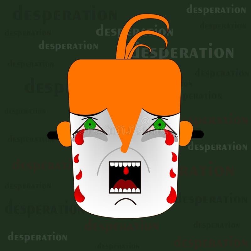 Rozpaczanie ilustracja ilustracja wektor