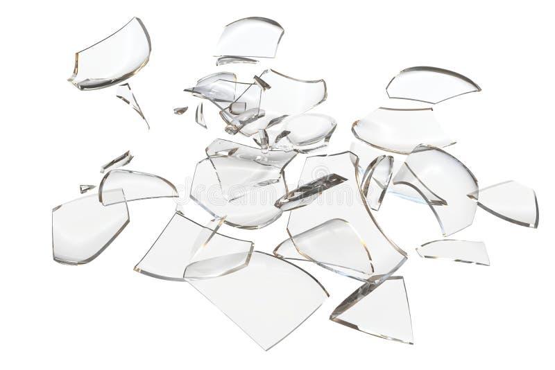 Rozpada się szkło rozbijającego przedmiota ilustracja wektor