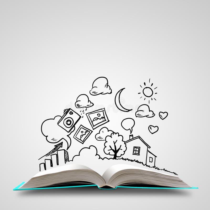 Rozpieczętowana książka royalty ilustracja