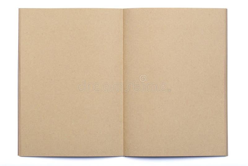 Rozpieczętowana pusta strona Kraft papieru notatnik obraz royalty free