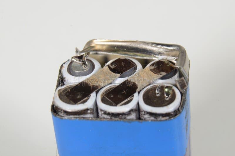 Rozpieczętowana 9V bateria fotografia royalty free