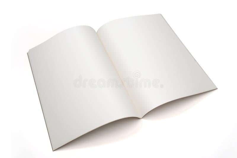 rozpieczętowanej puste miejsce książki broszurki strony notatnika pionowo okładka magazynu fotografia stock