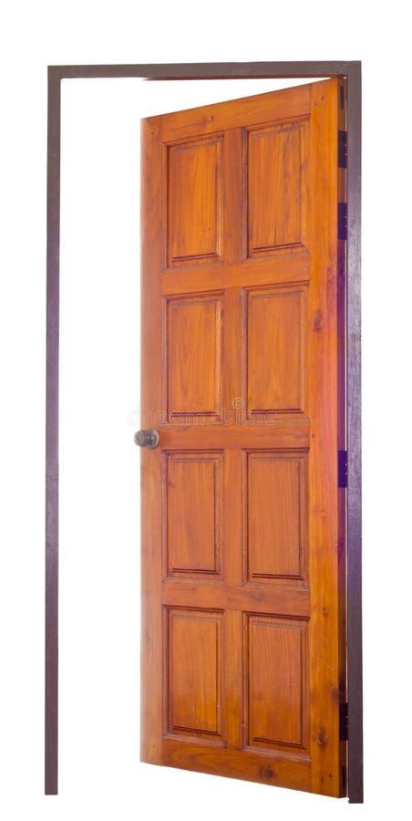 Rozpieczętowany drewniany drzwi obrazy royalty free