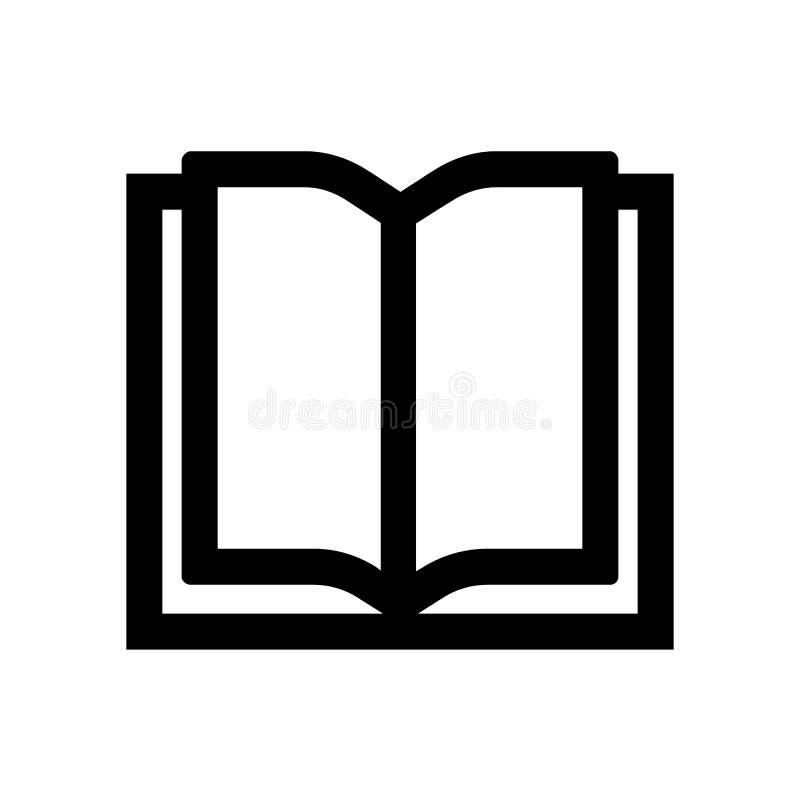 Rozpieczętowany Książkowy kontur ikony wektor eps10 Ksi??kowy znak książkowy ikona wektor śpiewa royalty ilustracja