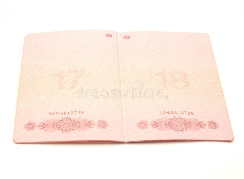rozpieczętowany paszport fotografia royalty free