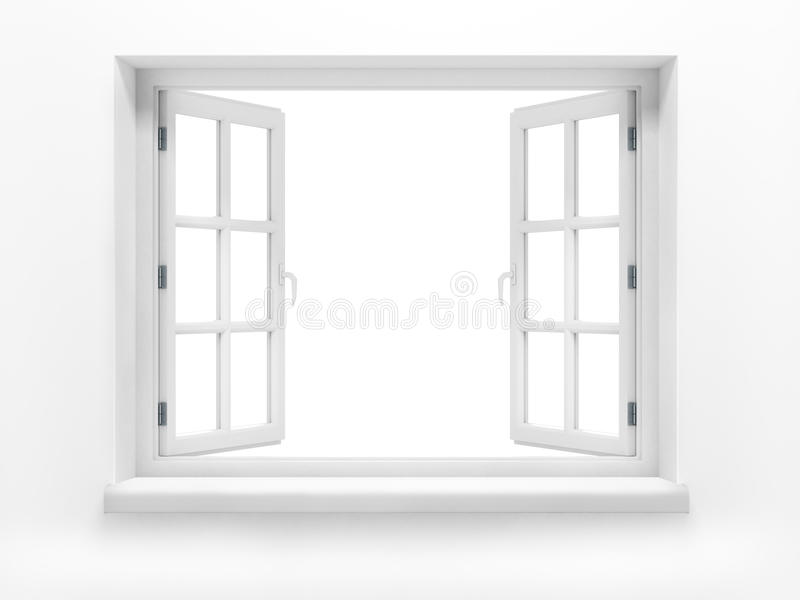 Rozpieczętowany plastikowy okno. zdjęcie royalty free