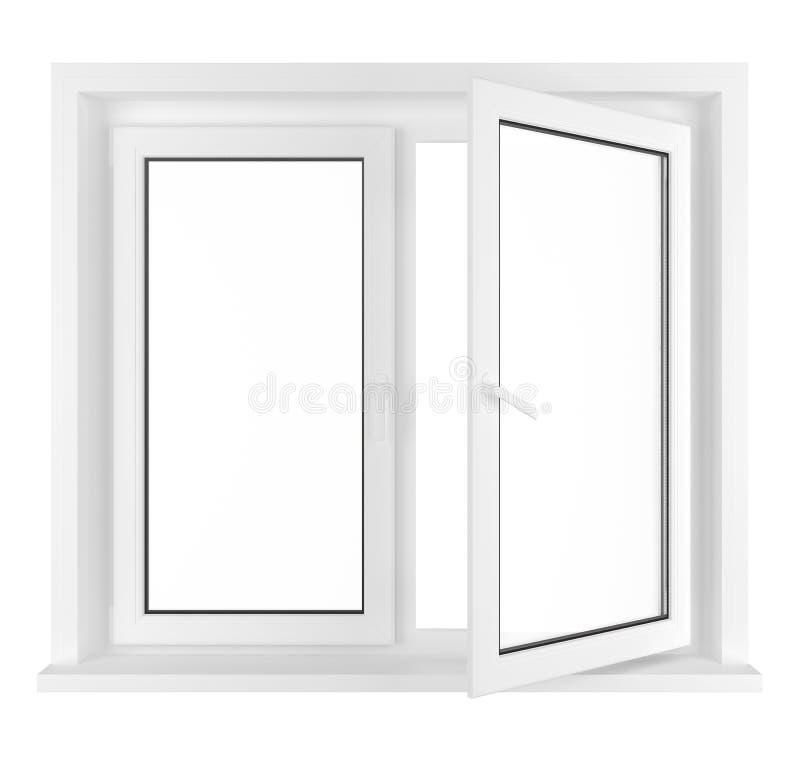 rozpieczętowany połówki okno ilustracja wektor