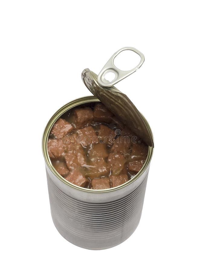 Rozpieczętowany psa lub kota konserwować jedzenie zdjęcie stock
