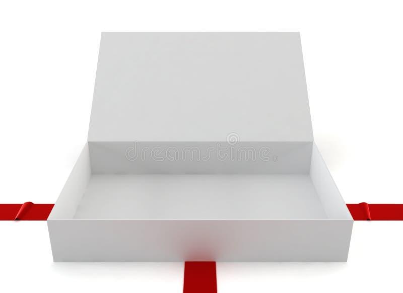 Rozpieczętowany pudełko royalty ilustracja