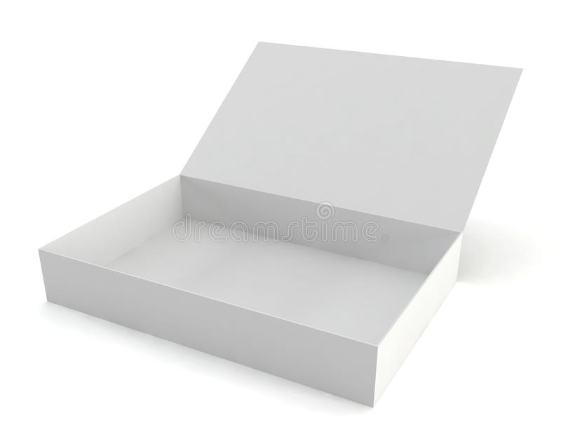 Rozpieczętowany pudełko ilustracja wektor