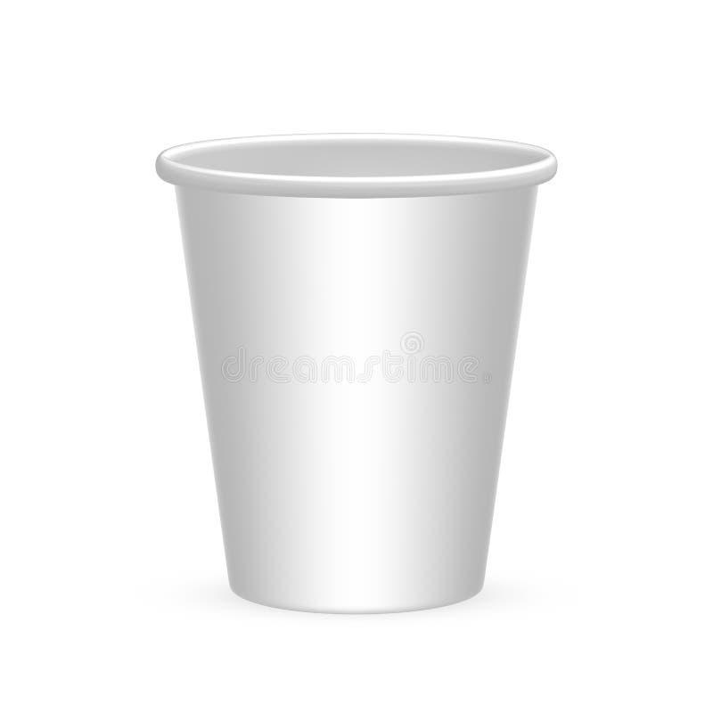 Rozporządzalna filiżanka dla wody, kawa, herbata, napój, soda Na białym tle ilustracji