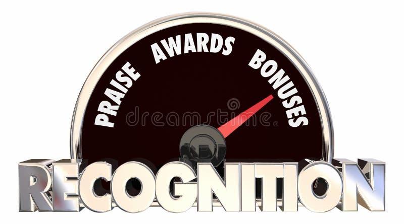 Rozpoznanie pochwała Nagradza premia szybkościomierz royalty ilustracja