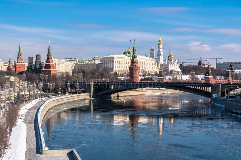 Rozpoznawalny Moskwa panoramiczny widok Rosja zdjęcie royalty free
