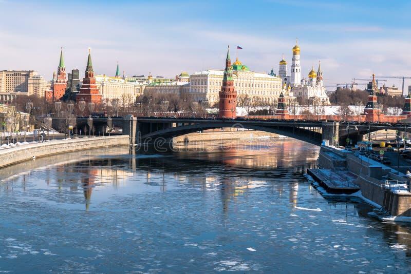 Rozpoznawalny Moskwa panoramiczny widok Rosja fotografia royalty free