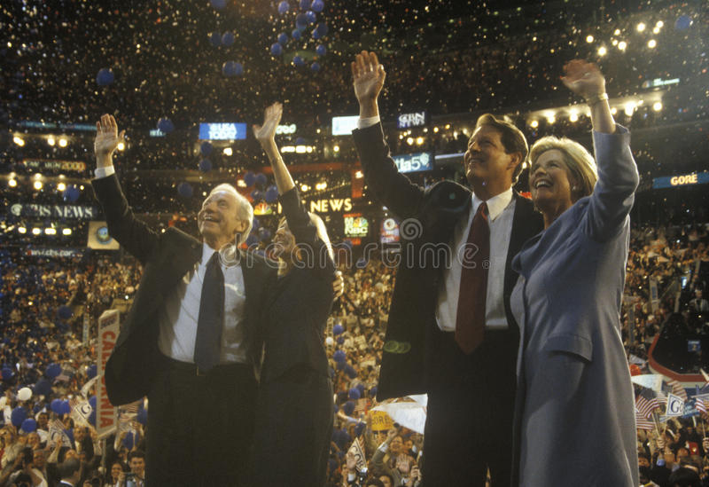 Rozpusta - Prezydent Krew i Senator Al Joe Lieberman zdjęcia stock
