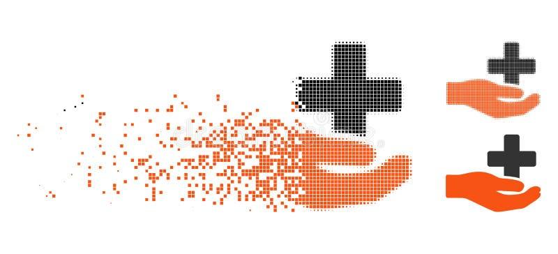Rozpuszczać Kropkowaną Halftone opieki zdrowotnej darowizny ikonę royalty ilustracja