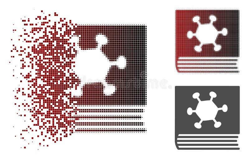 Rozpuszczać Pixelated Halftone darmozjada encyklopedii ikonę royalty ilustracja