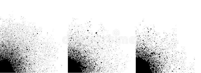 Rozpyla malującego gradientowego szczegół w czerni nad bielem ilustracji