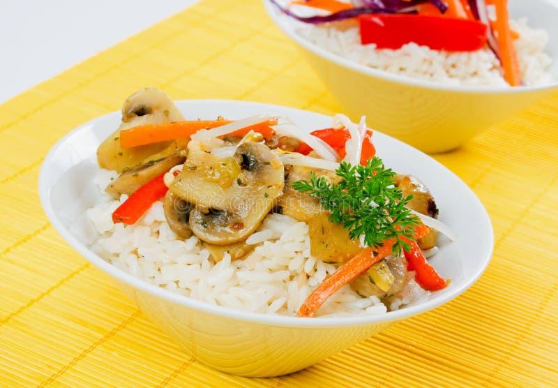 rozrasta się ryżowych warzywa obraz stock