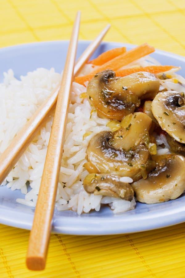 rozrasta się ryżowych warzywa fotografia stock