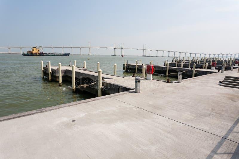 Rozrywka kompleks w Macau rybaka nabrzeżu zdjęcia stock
