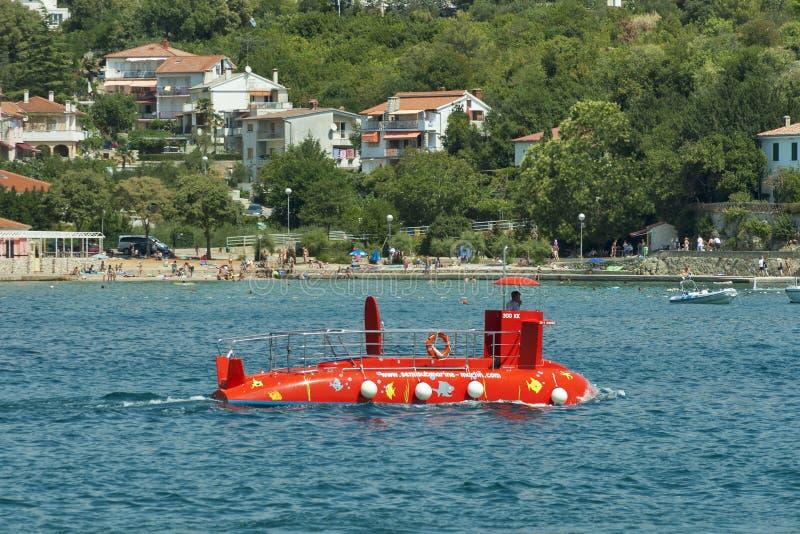 Rozrywki łódź podwodna zdjęcie stock