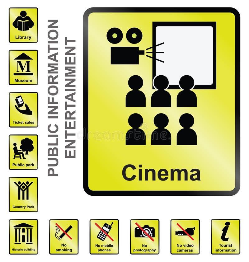 Rozrywki informaci znaki ilustracja wektor