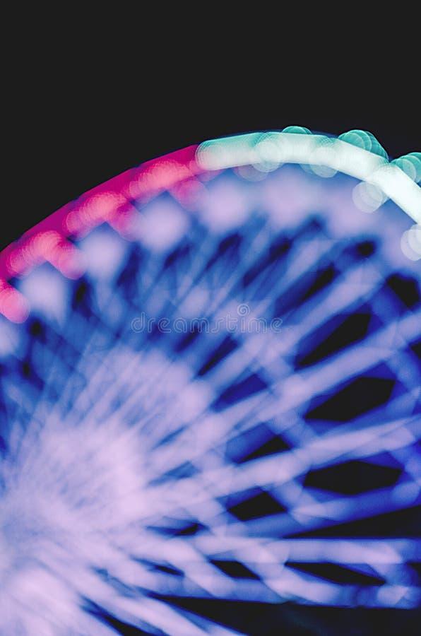 rozrywkowy ferris noc parka wektoru koło obraz stock