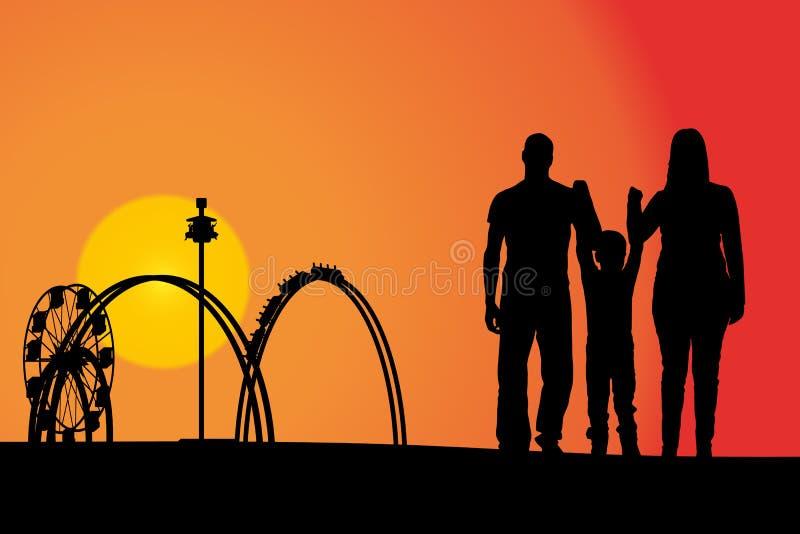 Download Rozrywkowy Ferris Noc Parka Wektoru Koło Ilustracji - Ilustracja złożonej z leisure, ludzie: 57650735