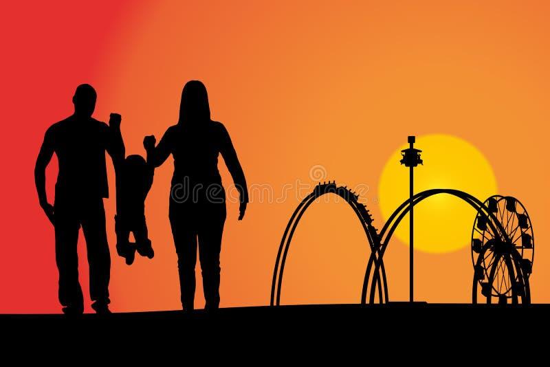 Download Rozrywkowy Ferris Noc Parka Wektoru Koło Ilustracji - Ilustracja złożonej z rekreacyjny, chłopiec: 57650785