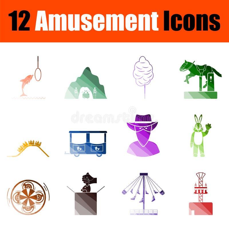 Rozrywkowy ikona set royalty ilustracja