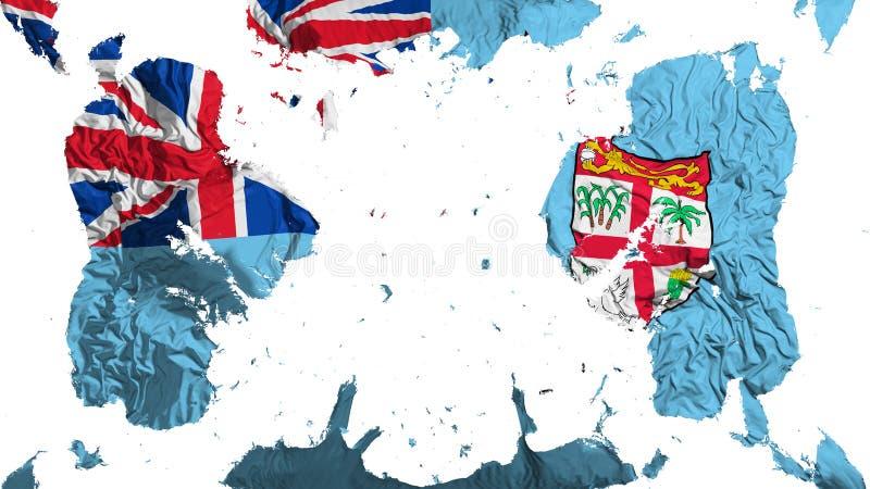 Rozrzucona Fiji flaga ilustracja wektor
