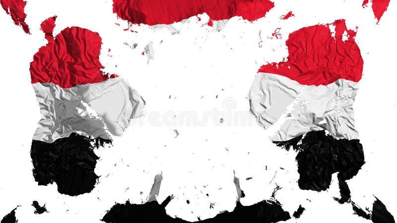 Rozrzucona Jemen flaga ilustracji