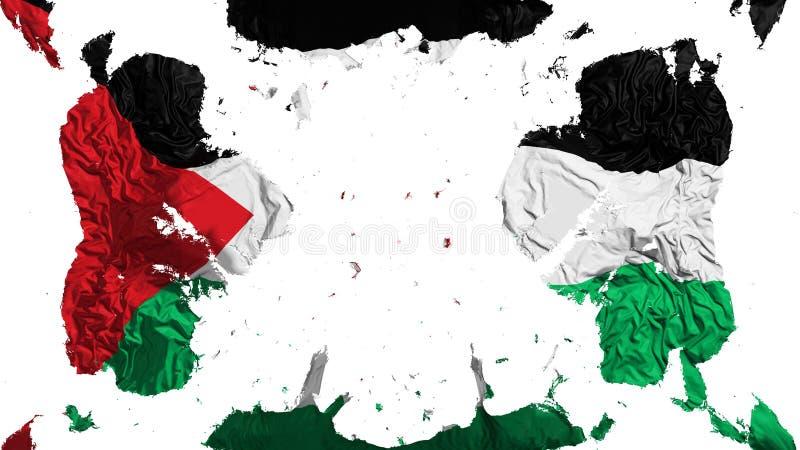 Rozrzucona Sahrawi Demokratycznej republiki Arabska flaga royalty ilustracja