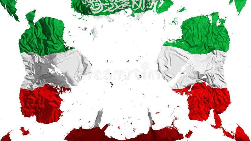 Rozrzucona Somaliland flaga ilustracja wektor