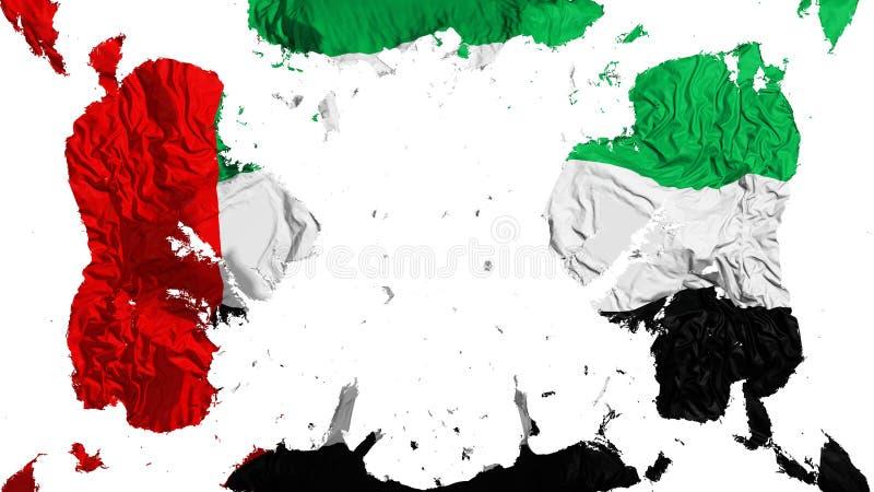 Rozrzucona Zjednoczone Emiraty Arabskie flaga ilustracja wektor