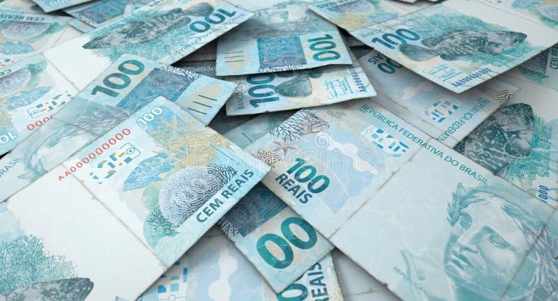 Rozrzucony banknotu stos obrazy stock