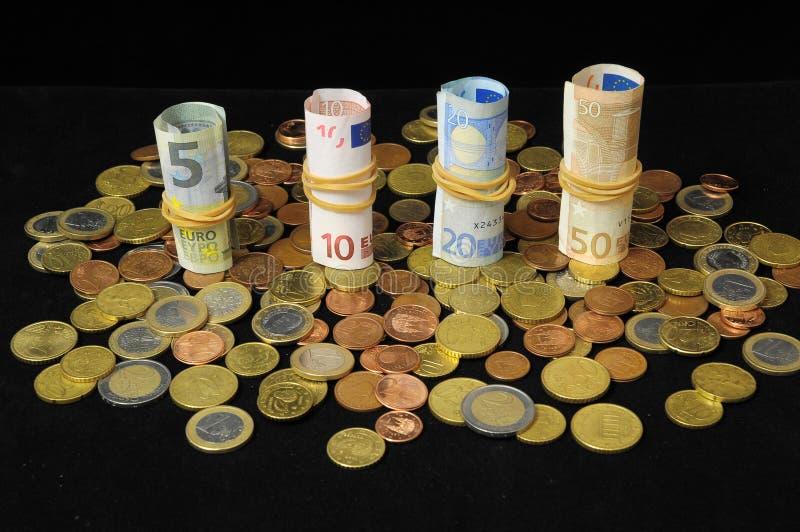 Rozrzucony pieniądze zdjęcie stock