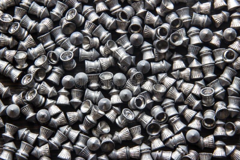 Rozrzucony pneumatyczny pocisk (dla strzelać) zdjęcia stock