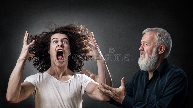 Rozrzutny gniewny syn zdjęcia royalty free