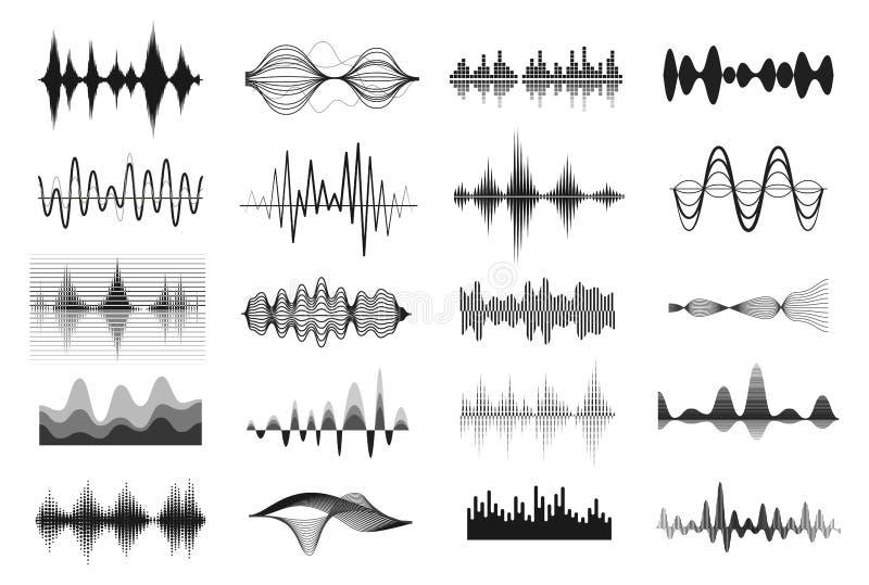 rozsądne muzyk fala ilustracja wektor