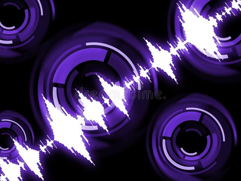 Rozsądnej fala tła przedstawień audio Lub technologii Rozsądna grafika royalty ilustracja