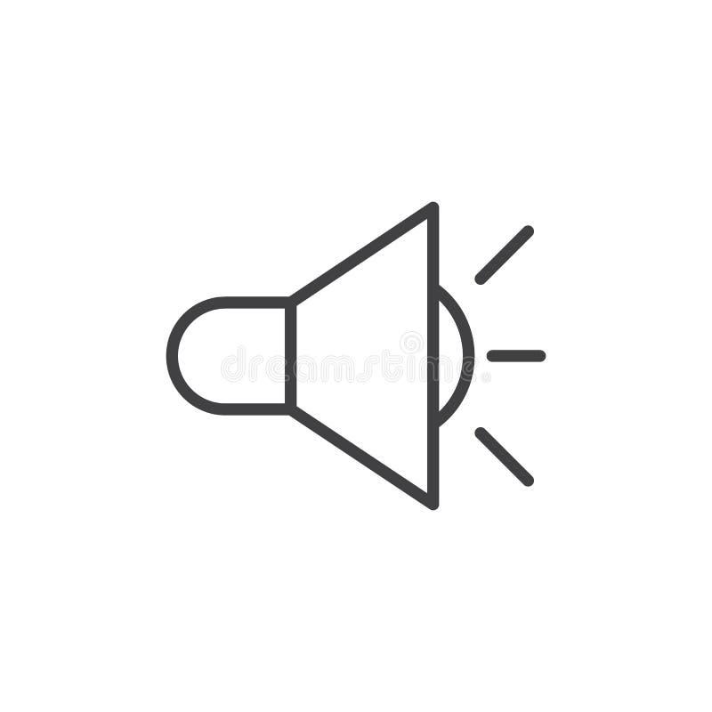 Rozsądnej pojemności linii ikona, konturu wektoru znak, liniowy stylowy piktogram odizolowywający na bielu royalty ilustracja