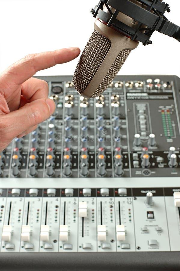 rozsądny mikrofonu studio zdjęcia royalty free