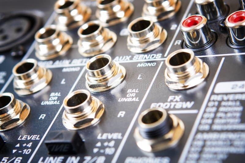 Rozsądny muzyczny pulpit operatora zdjęcie royalty free